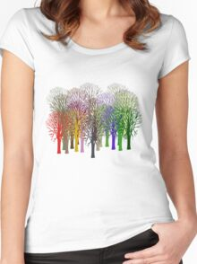 Forest View T-Shirt Women's Fitted Scoop T-Shirt