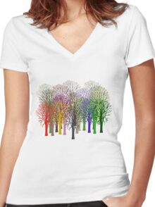 Forest View T-Shirt Women's Fitted V-Neck T-Shirt