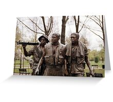 Vietnam Men's Memorial 1 Greeting Card