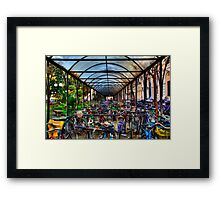 Parking of bicycles Framed Print