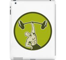 Weightlifter Lifting Barbell Circle Retro iPad Case/Skin