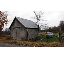 Abandonned Barn & 1950's Car Photographic Print