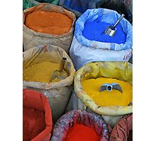 Bags With colorfull pigments Photographic Print