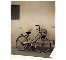 bike on a wall Poster