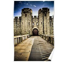 Gate to The Fort - Cardiff Castle Poster