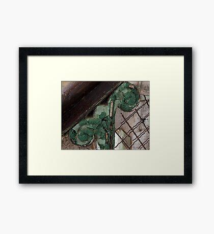 old prison handrail Framed Print