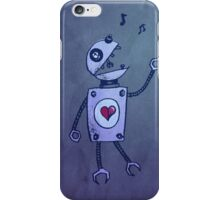 Happy Singing Robot iPhone Case/Skin