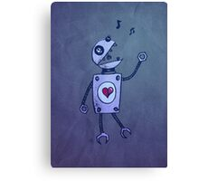 Happy Singing Robot Canvas Print