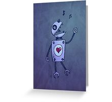Happy Singing Robot Greeting Card