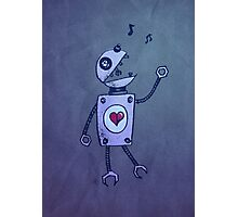 Happy Singing Robot Photographic Print