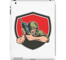 World War Two American Soldier Field Radio Shield iPad Case/Skin