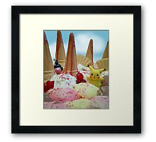 Pokemon Ice cream land Framed Print