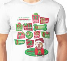 12 Dogs of Christmas Unisex T-Shirt