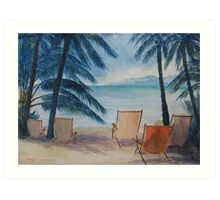 Viewing Tahiti Art Print