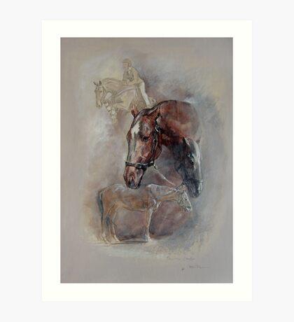 Ballistic Symbol - Horse Montage Art Print