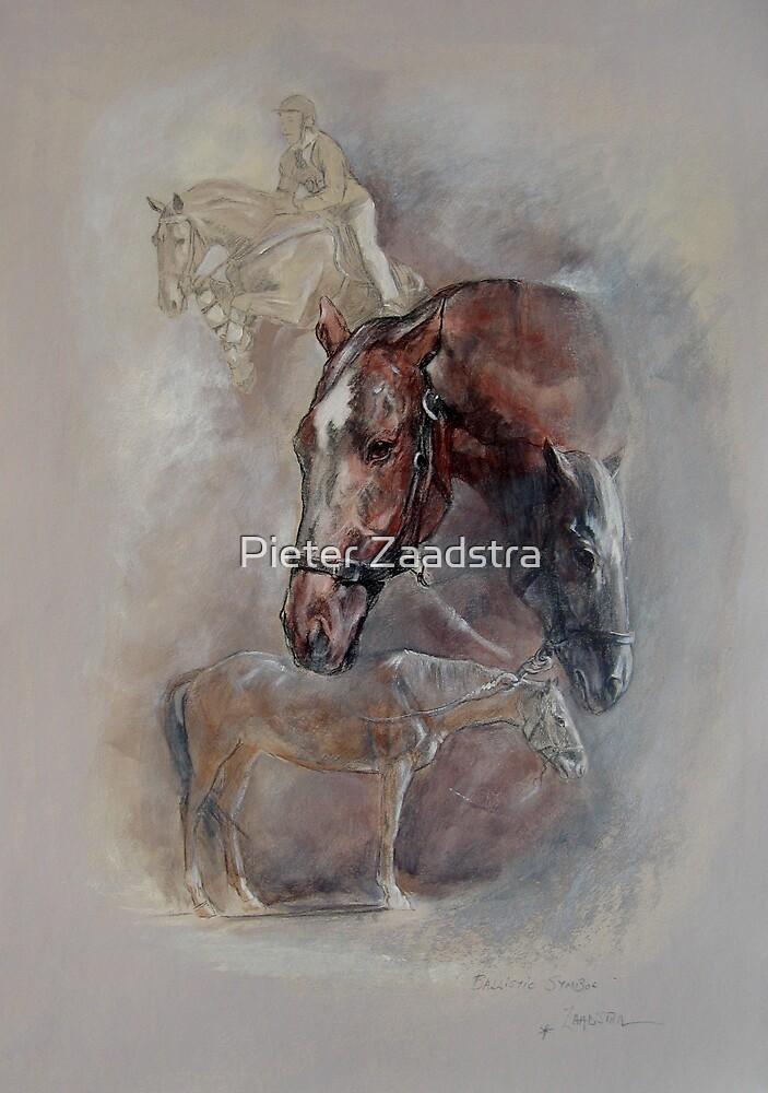 Ballistic Symbol - Horse Montage by Pieter  Zaadstra