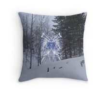 Snow Fae Throw Pillow