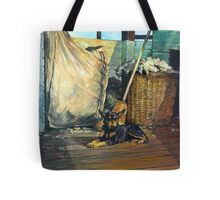 The Master of the Shed - Australian Kelpie series Tote Bag