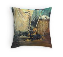 The Master of the Shed - Australian Kelpie series Throw Pillow