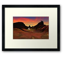 Trantis Pass Sunset Framed Print