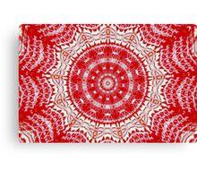 Red Kaleidoscope Canvas Print