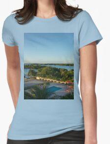an unbelievable Belize landscape Womens Fitted T-Shirt