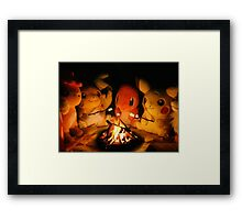 Pokemon Autumn Campfire Framed Print