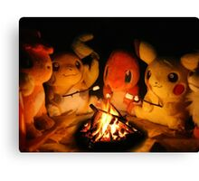 Pokemon Autumn Campfire Canvas Print