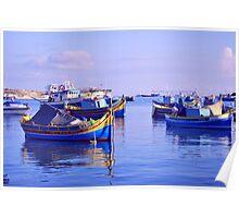 Malta Boats Poster
