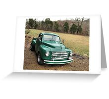 Studebaker Truck: Put Out to Pasture .... 'til the Next Ride Greeting Card