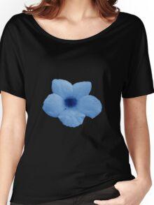 Potato Flower - Blue Women's Relaxed Fit T-Shirt