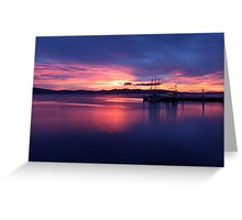 Hobart Sunrise Greeting Card