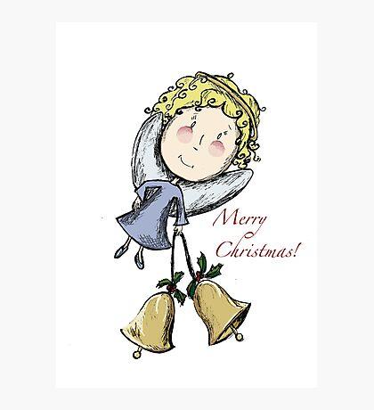 Little Christmas Angel Photographic Print