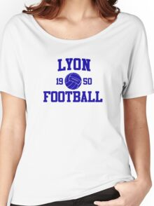 Lyon Football Athletic College Style 2 Gray Women's Relaxed Fit T-Shirt