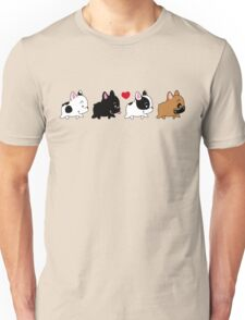 Frenchie Familly Unisex T-Shirt