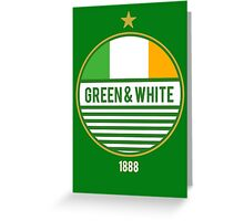 Glasgow's Green & White Greeting Card
