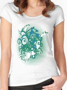 swirling eagle in sunset Women's Fitted Scoop T-Shirt