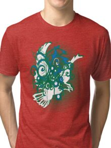 swirling eagle in sunset Tri-blend T-Shirt