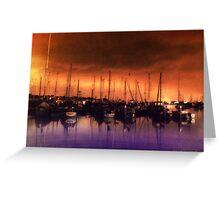 San Diego Harbor Midnight Moon Greeting Card