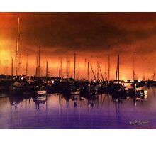 San Diego Harbor Midnight Moon Photographic Print