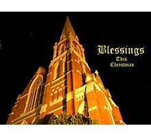 Christmas - Blessings This Christmas Photographic Print