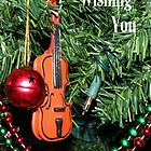 Violin for Christmas Card by Rosalie Scanlon