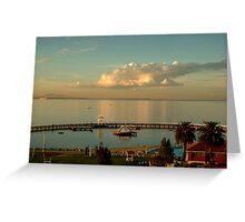 Sundown Eastern Beach,Geelong Greeting Card