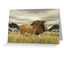 King of Beast. Greeting Card