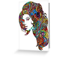 Amy Winehouse - Psychedelic Greeting Card