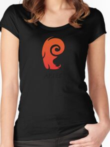aries star sign Women's Fitted Scoop T-Shirt