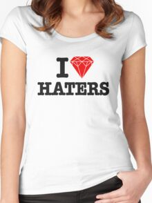 I love haters Women's Fitted Scoop T-Shirt