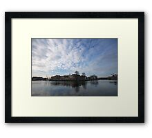 Living between sky and water Framed Print