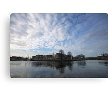 Living between sky and water Canvas Print