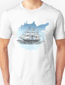 Vintage Sailboat Sketch Unisex T-Shirt